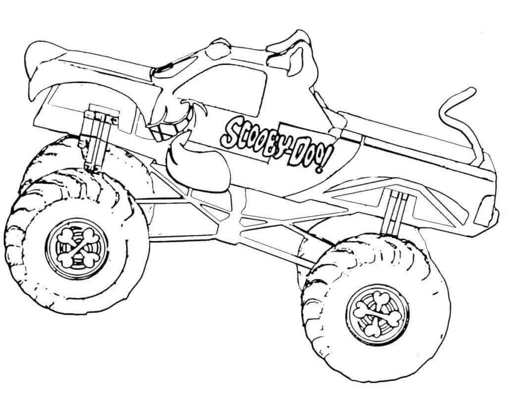 Bigfoot Monster Truck Coloring