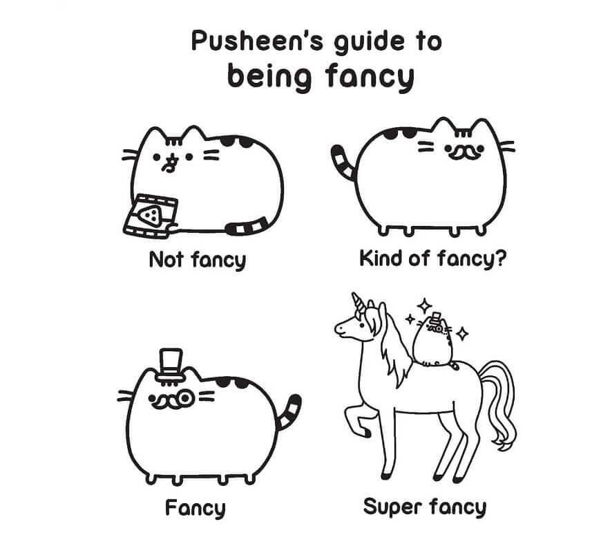 Black White And The Unicorn Cat Pusheen