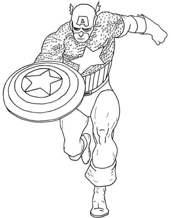 captain america shield coloring page # 97