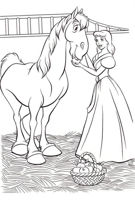 30 Free Printable Cinderella Coloring Pages