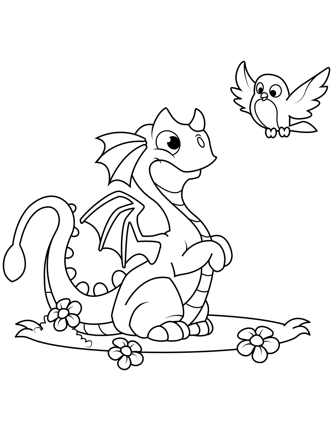 35 Free Printable Dragon Coloring Pages