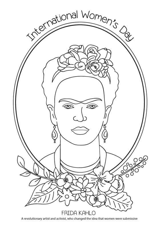 15 Free Printable International Womens Day Coloring Pages