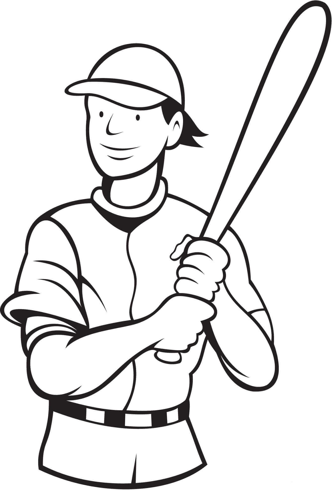 30 Free Printable Baseball Coloring Pages