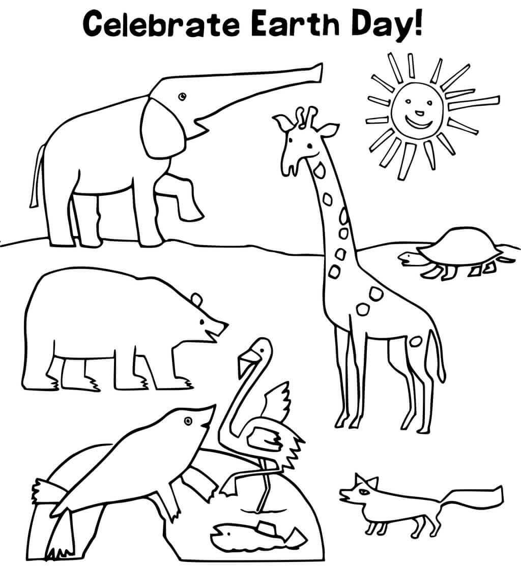 35 Free Printable Earth Day Coloring Pages