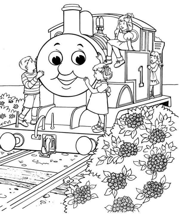 Thomas And Friends Coloring Book Free