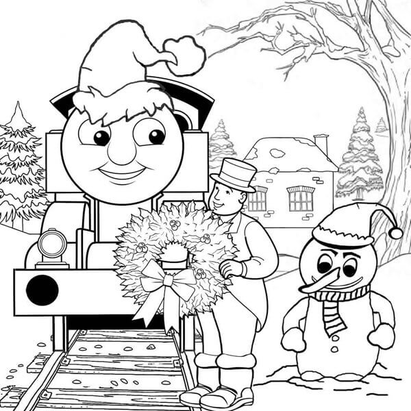 Thomas And Friends Coloring Pictures Christmas