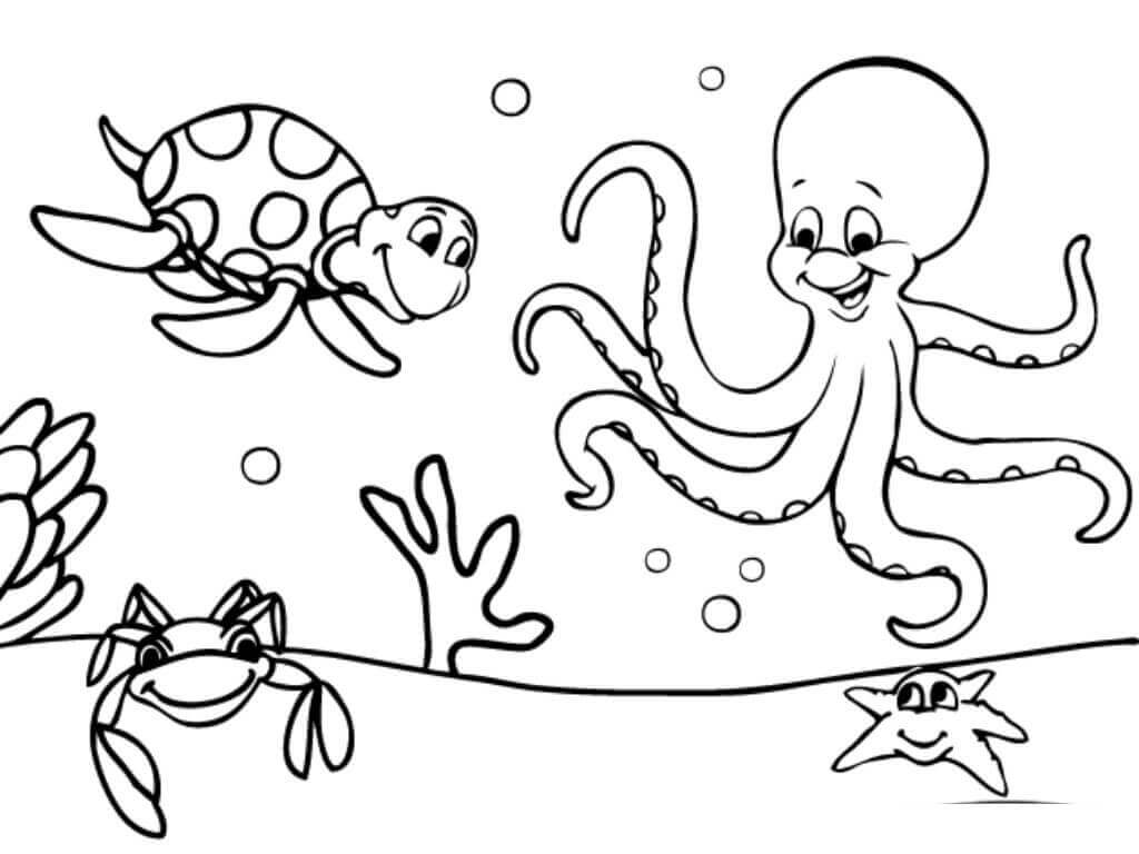 Free Printable Ocean Coloring Pages Under The Sea