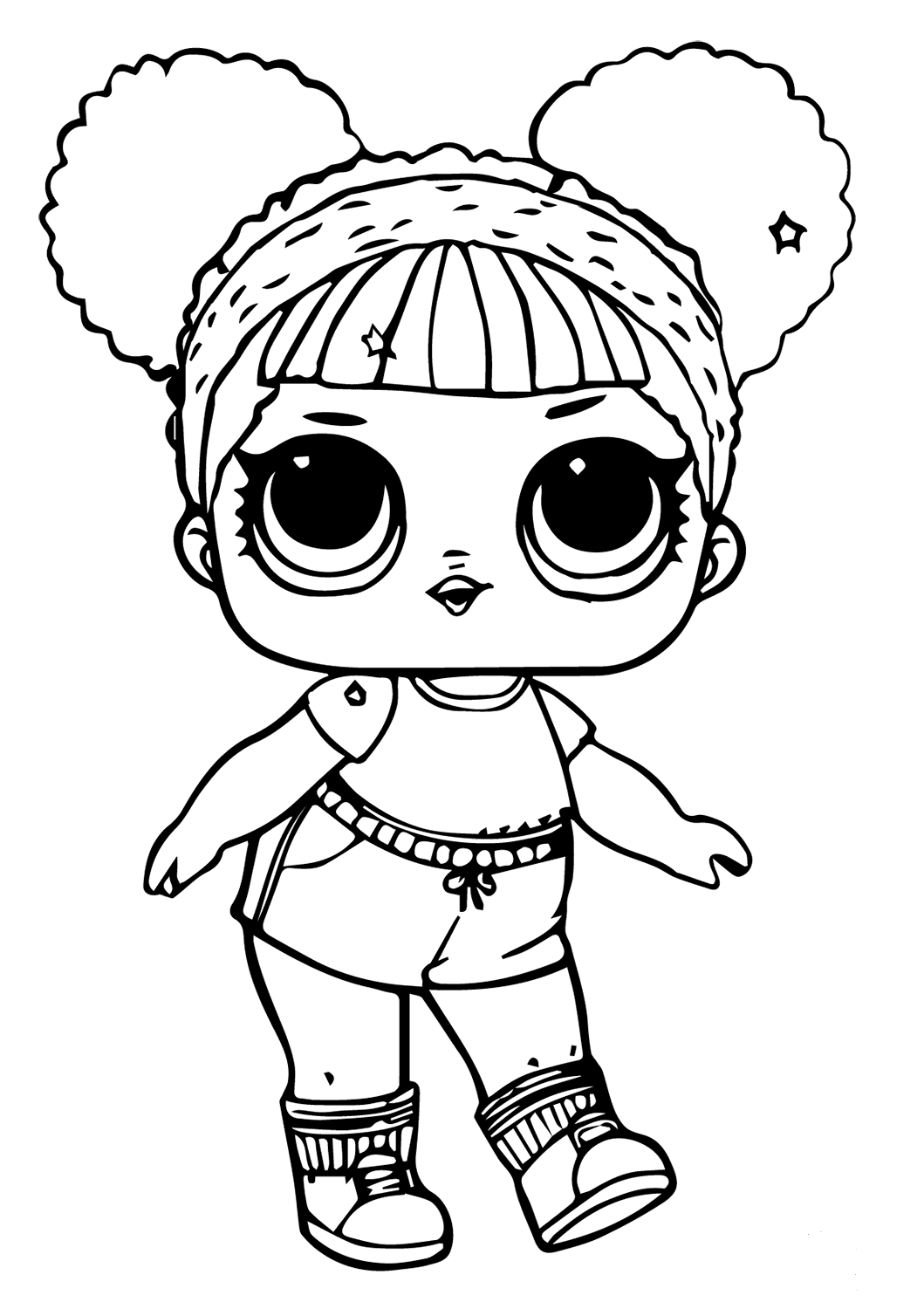 Elegant Lol Dolls Coloring Pages Lil Sisters