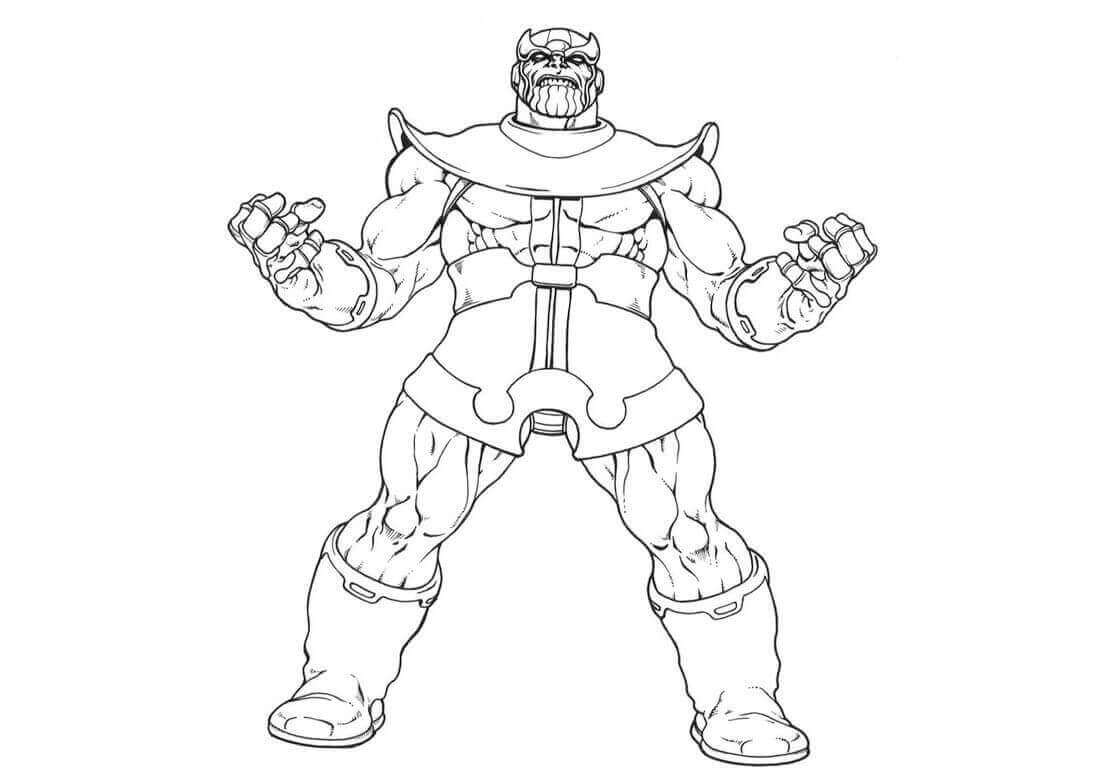 15 Free Printable Thanos Coloring Pages