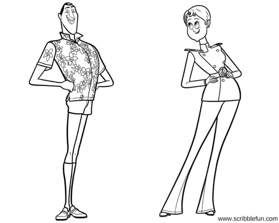 Hotel Transylvania Coloring Pages To Print