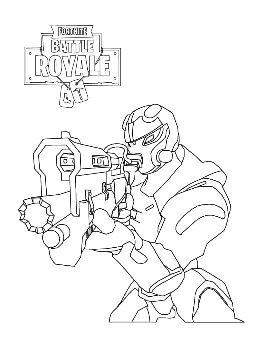 Drawing Knight Print Fortnite Black