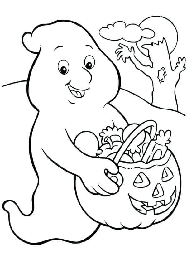 Scary Ghost Coloring Pages To Print Page Pictures Very