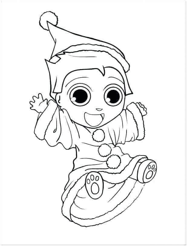 Baby Elf On The Shelf Coloring Pages