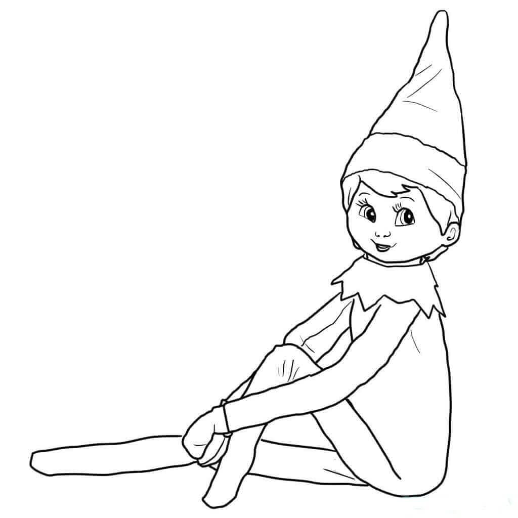 Elf On The Shelf Coloring Pages For Kids