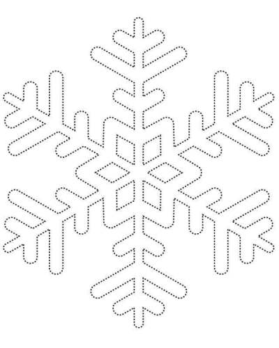 Connect The Dot Snowflake Coloring Page