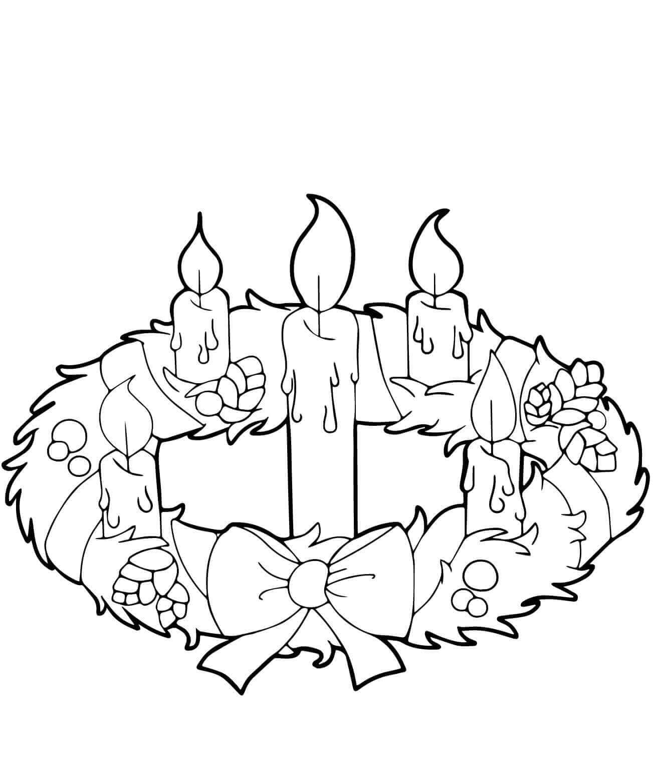 Massif Advent Wreath Coloring Pages Printable
