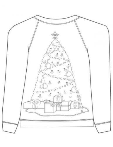 Christmas Tree Ugly Christmas Jumper Coloring Page