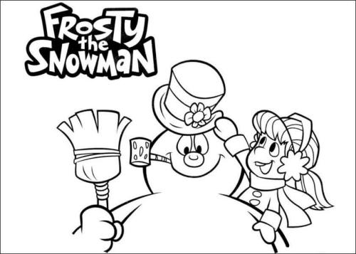 Frosty The Snowman Coloring Pictures