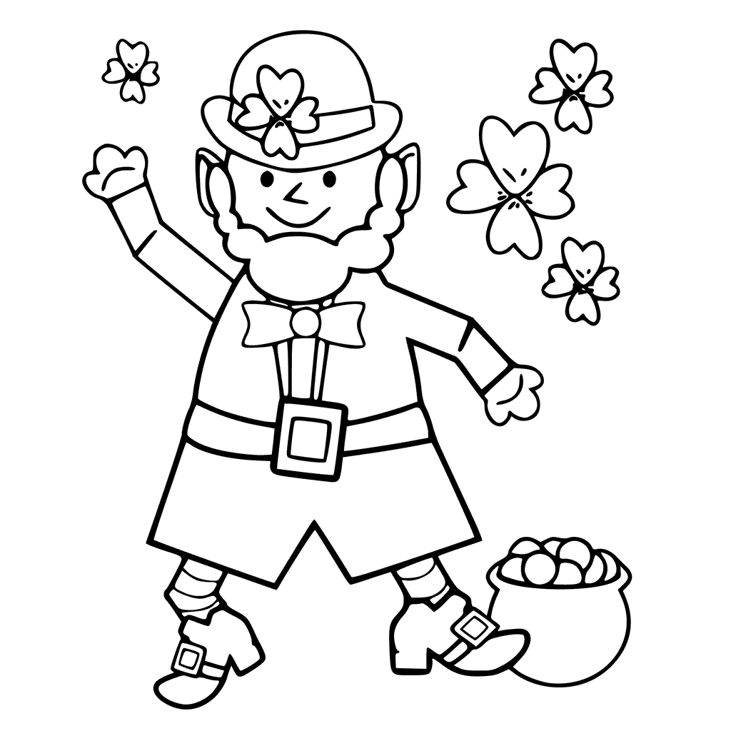 25 Free Leprechaun Coloring Pages Printable