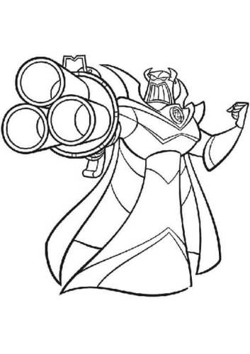 Emperor Zurg From Toy Story Coloring Page