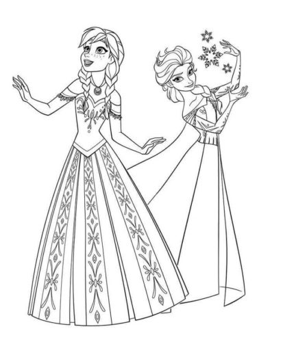 35 Free Frozen Coloring Pages Printable