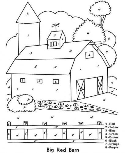 free farm coloring pages printable