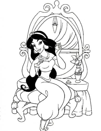 25 Free Princess Jasmine Coloring Pages Printable