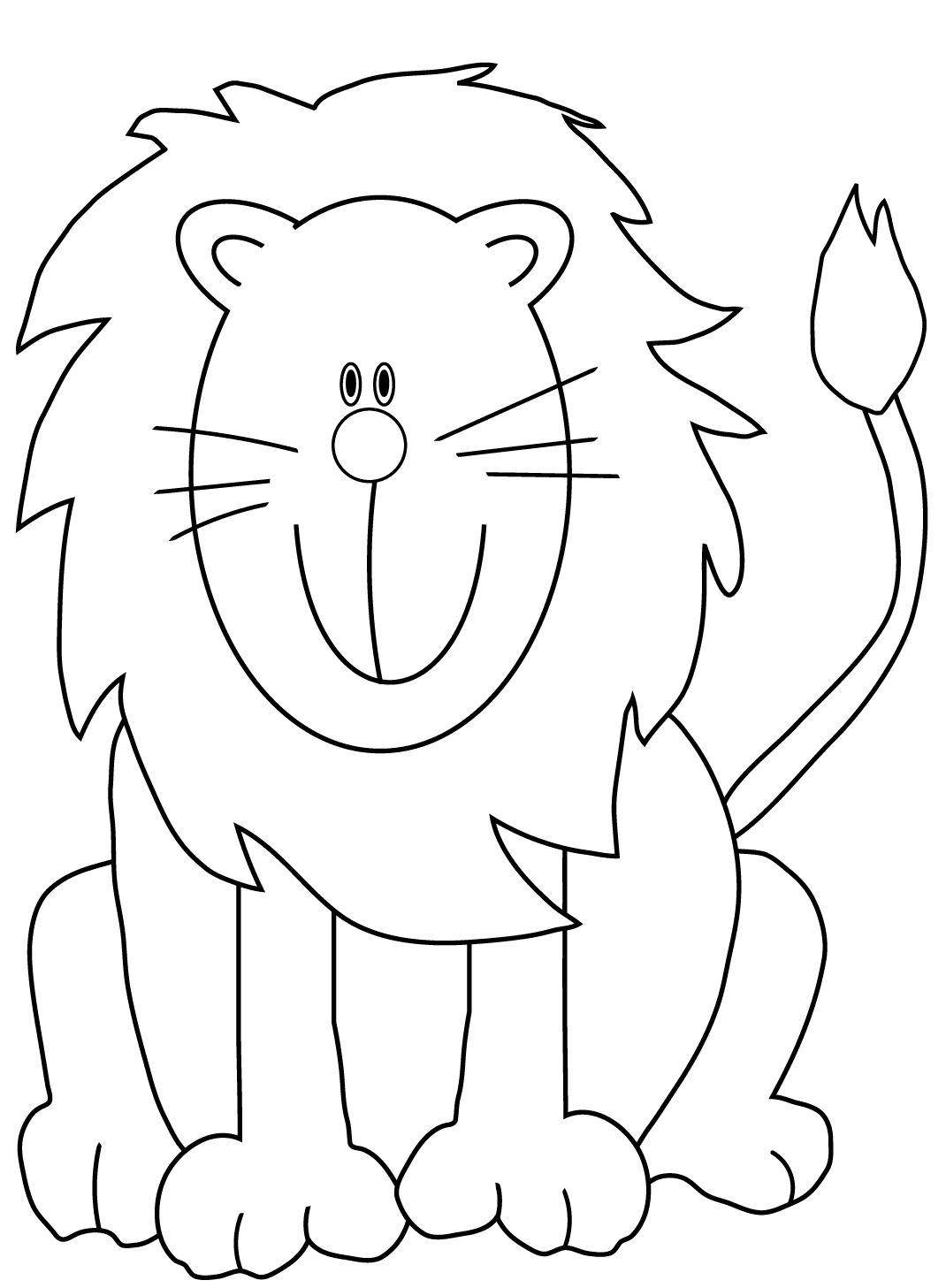 Lion Coloring Pages For Preschoolers