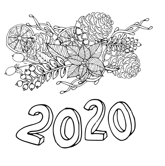 28 Free New Year 28 Coloring Pages Printable