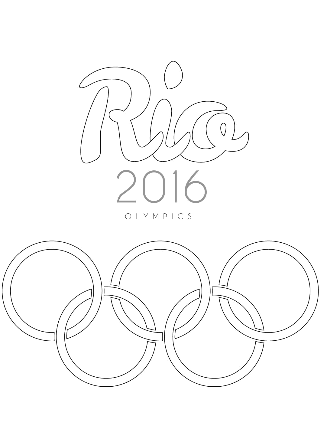 Rio Olympics Coloring Page