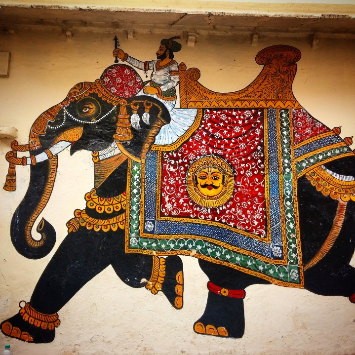 Rajasthani wall art in Udaipur