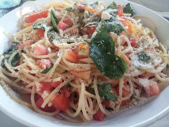 Cherry tomato and basil pasta at Kunda