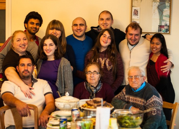 The family on Christmas Day