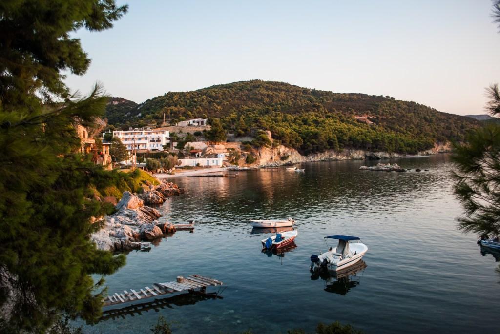 Tiny port at Atsitsa bay, Skyros
