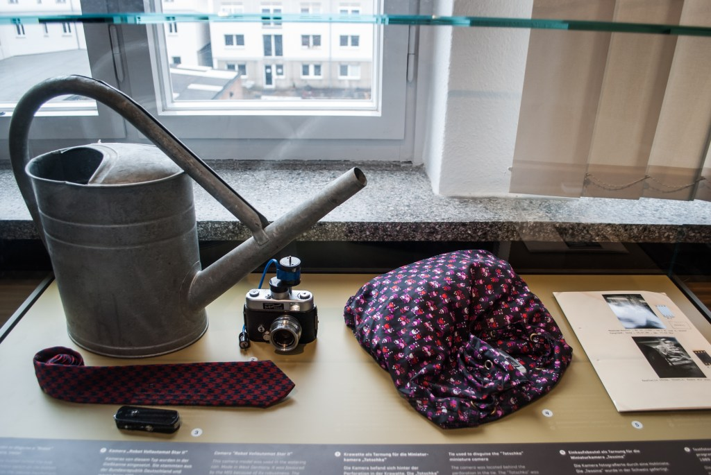 Items that had hidden cameras in them and were used by the Stasi