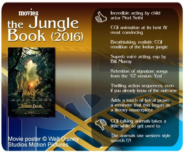 The Jungle Book (2016) Movie Review: 7 thumbs up and 2 thumbs down