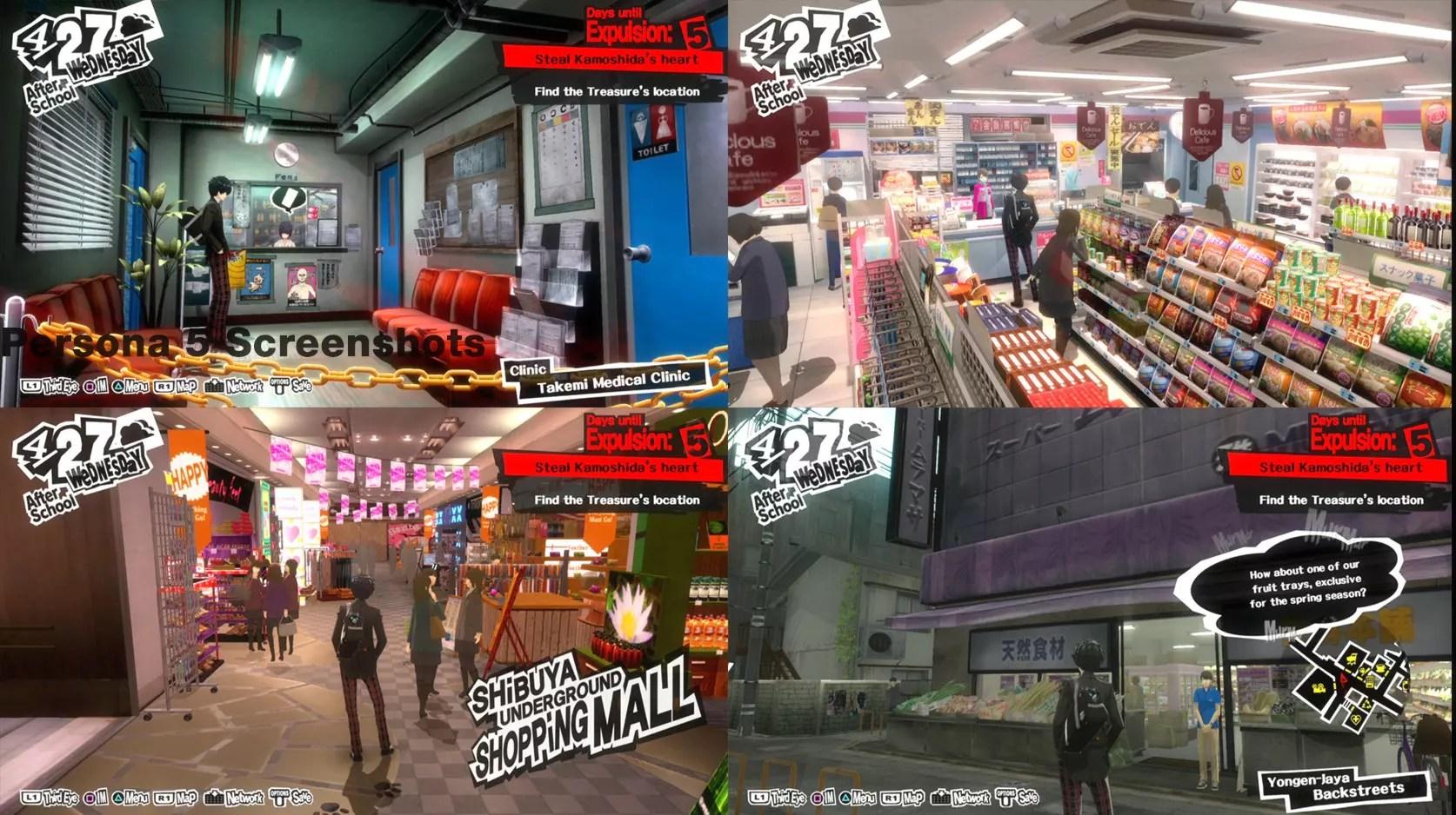 Persona 5 Open World Screenshots
