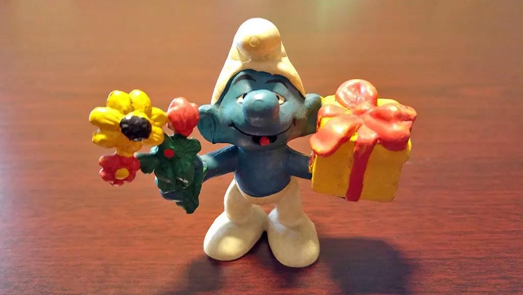 Joker Smurf Figurine.