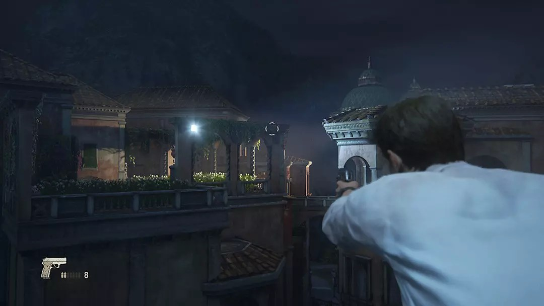 Uncharted 4 Rossi Estate escape.