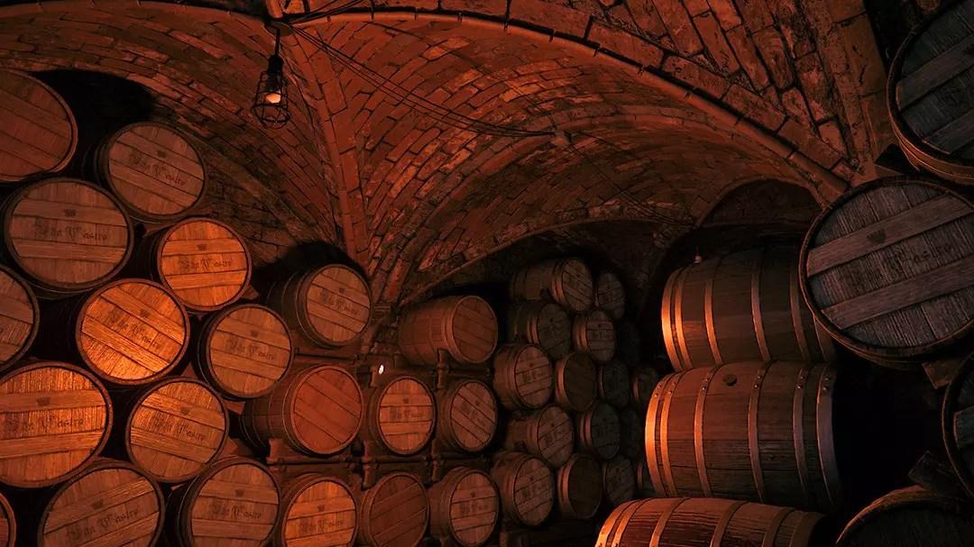 Rossi Estate Wine Cellar