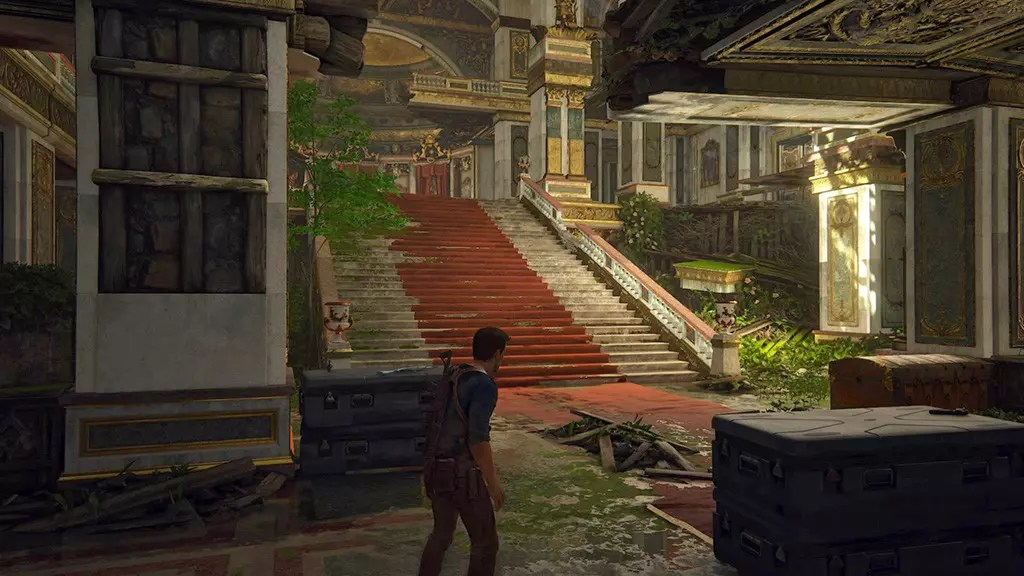 Uncharted 4 Abandoned Mansion Interior