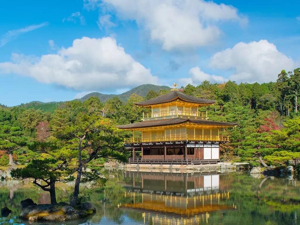 Kinkakuji. The Golden Pavilion.