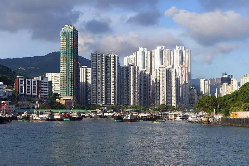 Waterfront apartments in Abderdeen, Hong Kong