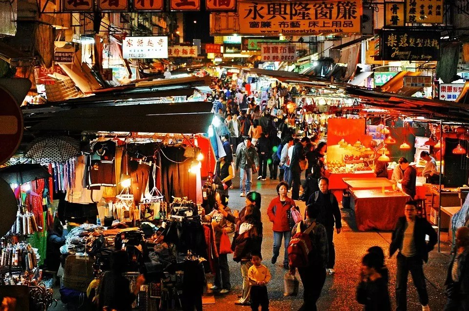 Hong Kong Night Market scenery