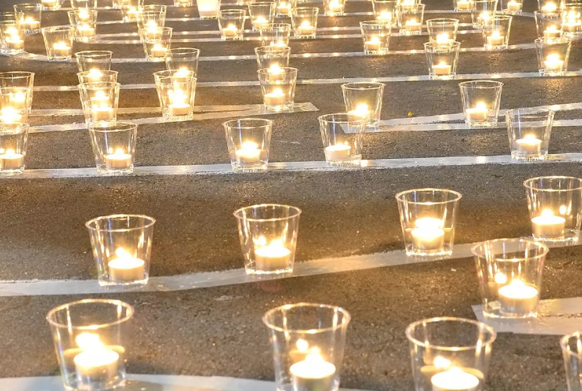 Votive candles at Cathedral of the Good Shepherd, Singapore.
