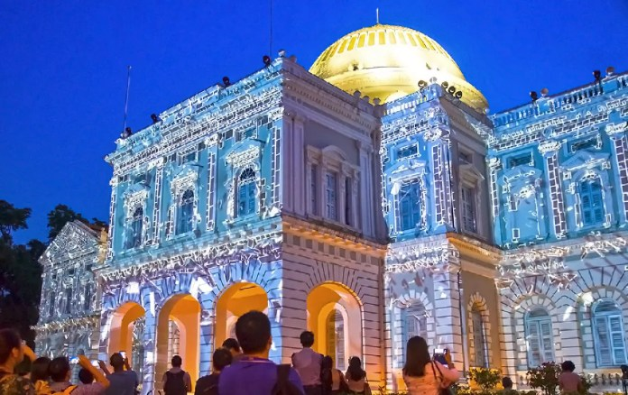Singapore Night Festival 2017 at National Museum of Singapore.