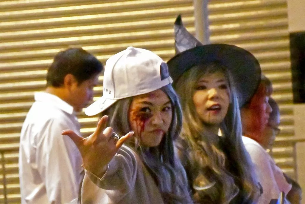 Halloween Street Party in Central, Hong Kong.