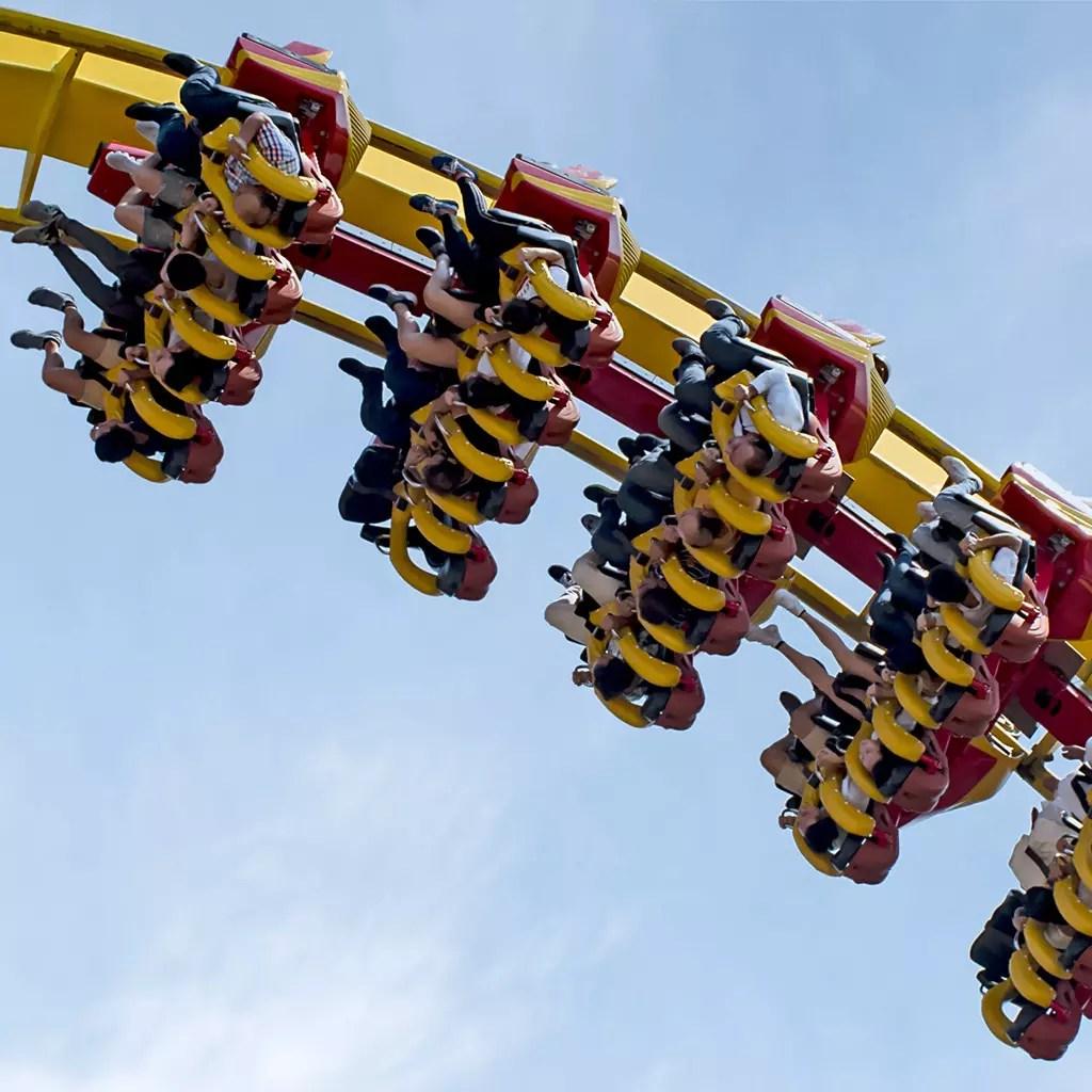 Ocean Park Hong Kong Hair Raiser Roller Coaster.