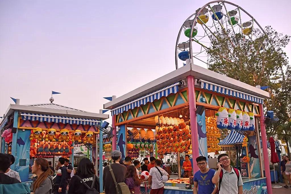 Carnival Games at Marine World, Ocean Park HK.