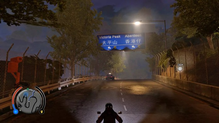 Driving to Victoria Peak in Sleeping Dogs.